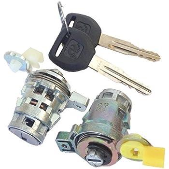Honda Odyssey Key Replacement >> Amazon.com: Well Auto Door Lock Cylinder Set w/Key(L & R ...