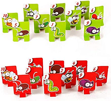 Hot Creative Funny Take Card-Eat Pest Catch Bugs Juego de Mesa Juegos de Mesa para niños Familia Collection Gift35: Amazon.es: Hogar
