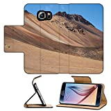 Luxlady Premium Samsung Galaxy S6 Flip Pu Leather Wallet Case IMAGE ID: 34469138 Colourful desert landscape in Lauca National Park set in the altiplano of northern Chile