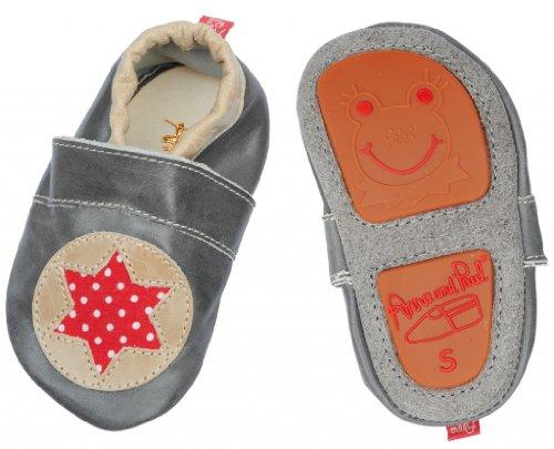 Anna & paul gris-chaussures avec semelle en caoutchouc en forme d'étoile - - Gris, L - 22 - 14.1 cm - 16-22 Monate EU