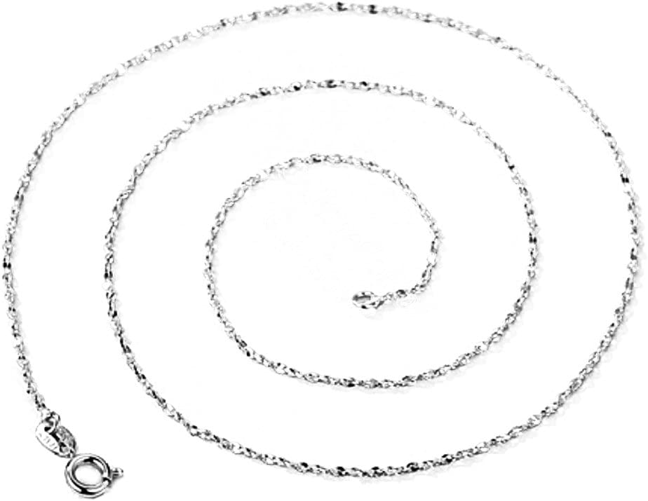 10 PCS 1.8mm Silver Plated Rope Chain Necklaces with Clasps for DIY Jewelry Making Accessory