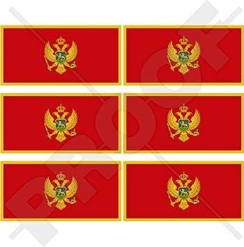 Montenegrin Coat of Arms Sticker Decal Vinyl Montenegro flag MNE