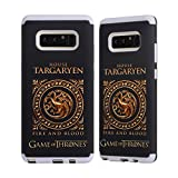 Official HBO Game Of Thrones Metallic Sigils - Targaryen Various Designs Gray Sentry Case for Samsung Galaxy Note8 / Note 8