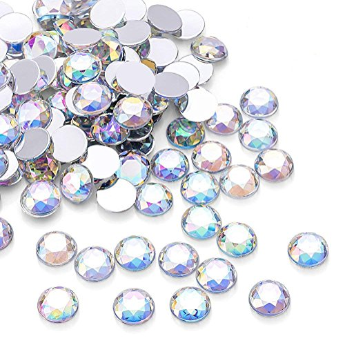 10 Mm Round Acrylic - 1000Pcs Crystal AB Rhinestones, Clear Round Rhinestones for DIY Crafts, Phone, Nail Art, Jewelry Making, Clothes, Bag, Shoes, Wedding Decoration (10mm)