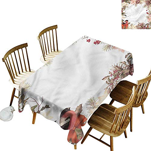(one1love Tablecloth for Kids/Childrens New Year Bullfinch with Cedar Fashions Rectangular 60