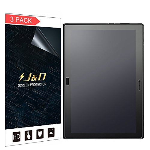 J&D Compatible for 3-Pack Lenovo Moto Tab 10.1 Screen Protector, [Anti-Glare] [Not Full Coverage] Matte Film Shield Screen Protector for Lenovo Moto Tab 10.1 inch Matte Screen Protector