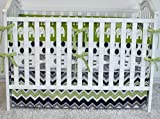 Green and Grey Elephants Crib bedding, bumpers, skirt, fitted sheet, safari theme