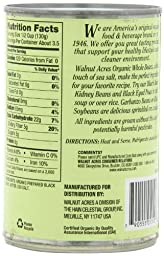Walnut Acres Organic Whole Black Beans, 15 Ounce Cans (Pack of 12)