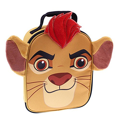 Lions Lunch Box (Disney LG29535-SC-DB00 Lion Guard Shaped Face Lunch Kit Insulated, Tan)