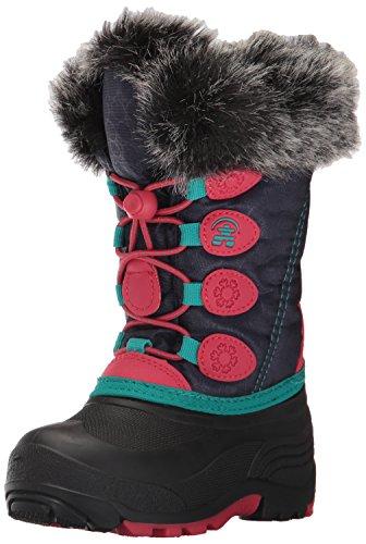 Kamik Kids' Snowgypsy Snow Boot, Navy/Rose, 9 Medium US Toddler (Snow Winter Toddler Boots)