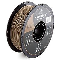 HATCHBOX 3D WOOD-1KG1.75 3D Printer Filament, Dimensional Accuracy +/- 0.05mm, 1.75 mm, Wood from HATCHBOX