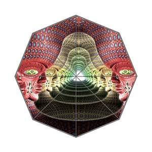 Alex Grey Spiritual Painting Theme Triple Folding Umbrella!43.5 inch Wide!Perfect as Gift!