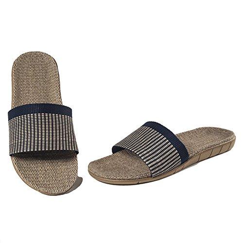 Summer Indoor Navy Linen Slippers Skidproof Cozy Urban CoCo Unisex wT1YcqUTI8