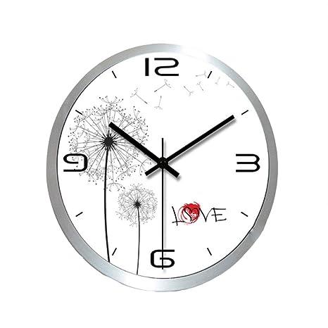 Reloj De Pared, Reloj Mute De Acero Inoxidable, Reloj De ...