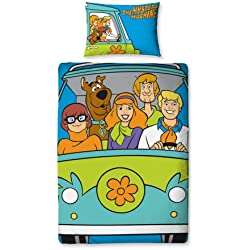Character World Scooby Doo 'Mystery' Reversible Panel Duvet Set, Multi, Single