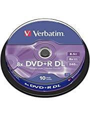 Verbatim DVD+R DL 8.5GB 10Pk Spindle 8X Silver 8.5GB