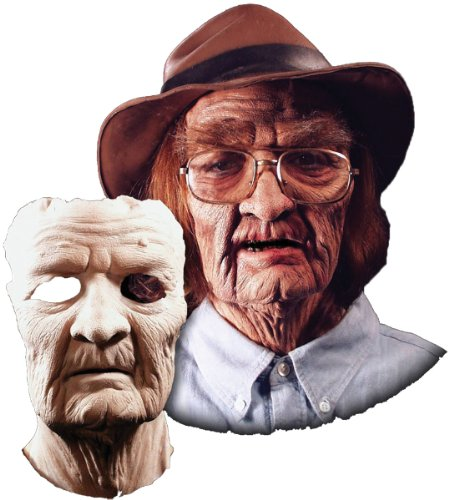 Old Age Facial Prosthetic Costume Mask - Product Description - Foam Latex Prosthetics Are Made Of A Soft Spongy Latex Material That Closely Imitates The Look And Feel Of Skin. The Piece Is Adhered With Spirit Gum Or Latex, Then Blended In And Co ... ()