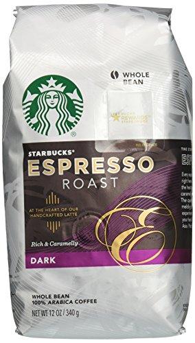 Starbucks Espresso Roast Whole Bean Coffee, 12 Ounce, 6 Count (Whole Bean Espresso Starbucks compare prices)