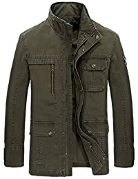 JIAX New Men's Autumn And Winter Cotton Military Style Multi-Pocket warm Jacket