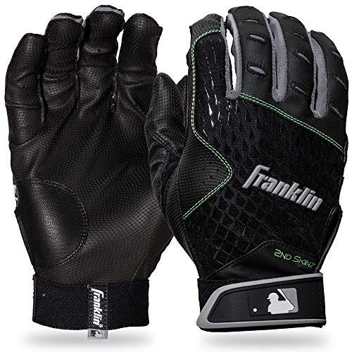 Franklin Sports 2nd-Skinz Batting Gloves Black/Black Adult Large ()