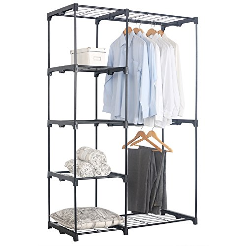 WOLTU Clothes Hanging Garment Rack Stainless Steel Bar Heavy