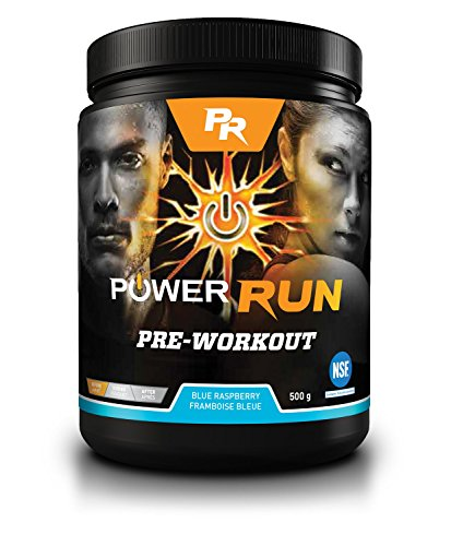 Pre-Workout Powder Blend | NSF Certified | by Power Run Energy | Blue Raspberry | 1.1 Lbs