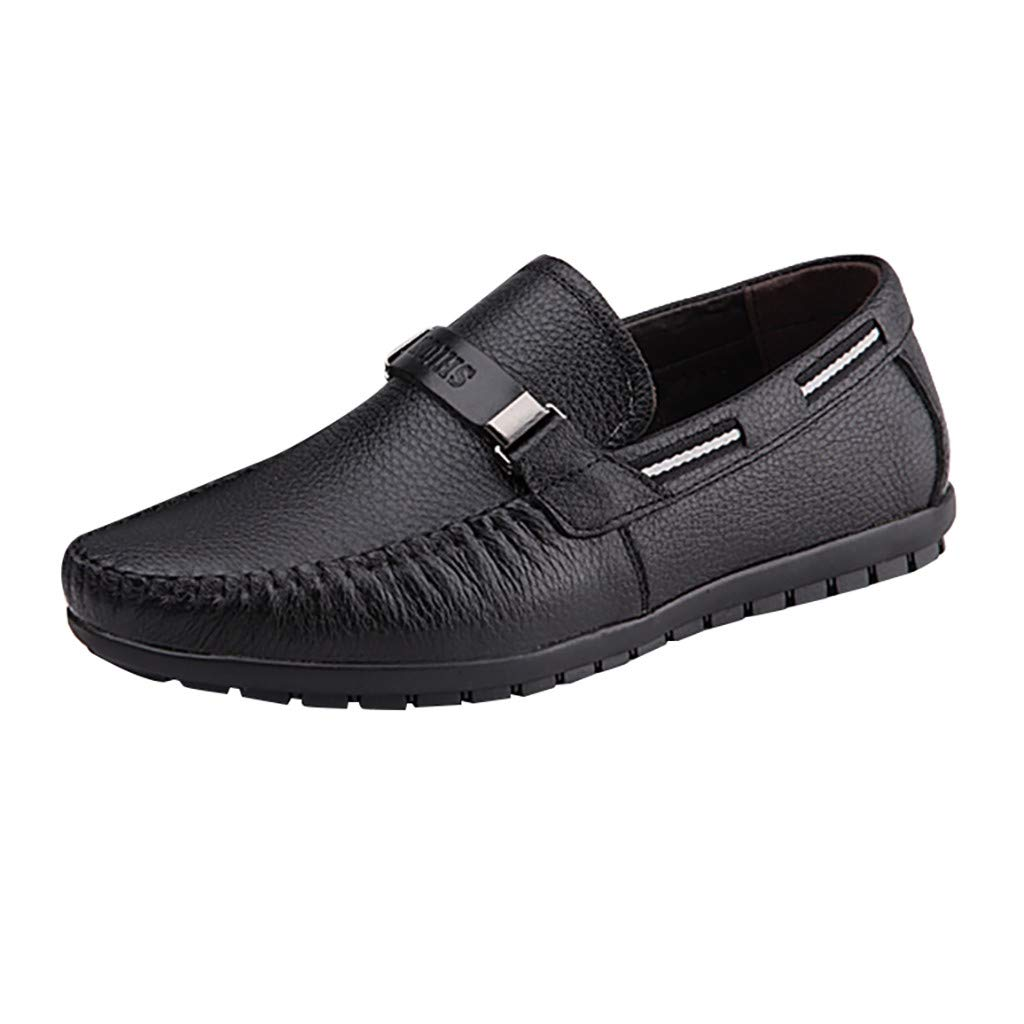 Men's Oxford Sneaker Dress Shoes-Men Business Fashion Men's Casual Business Leather Work Boat Shoes