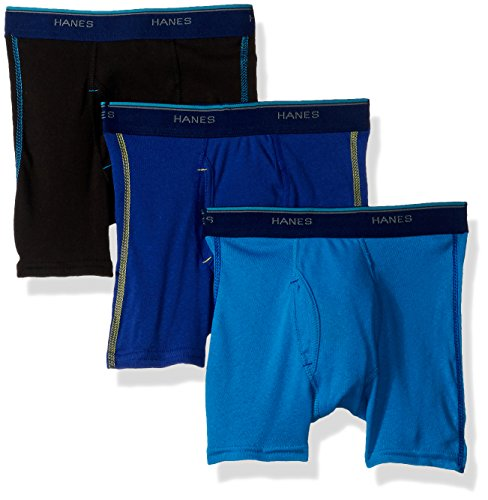 Hanes Boys' Red Label Comfort Flex Sport Inspired Boxer Briefs 3-Pack, Assorted, Large (Hanes Boys Red Label)