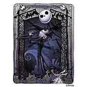 Northwest Disney The Nightmare Before Christmas, Jack's Graveyard 46  x 60  Micro Raschel Throw Blanket