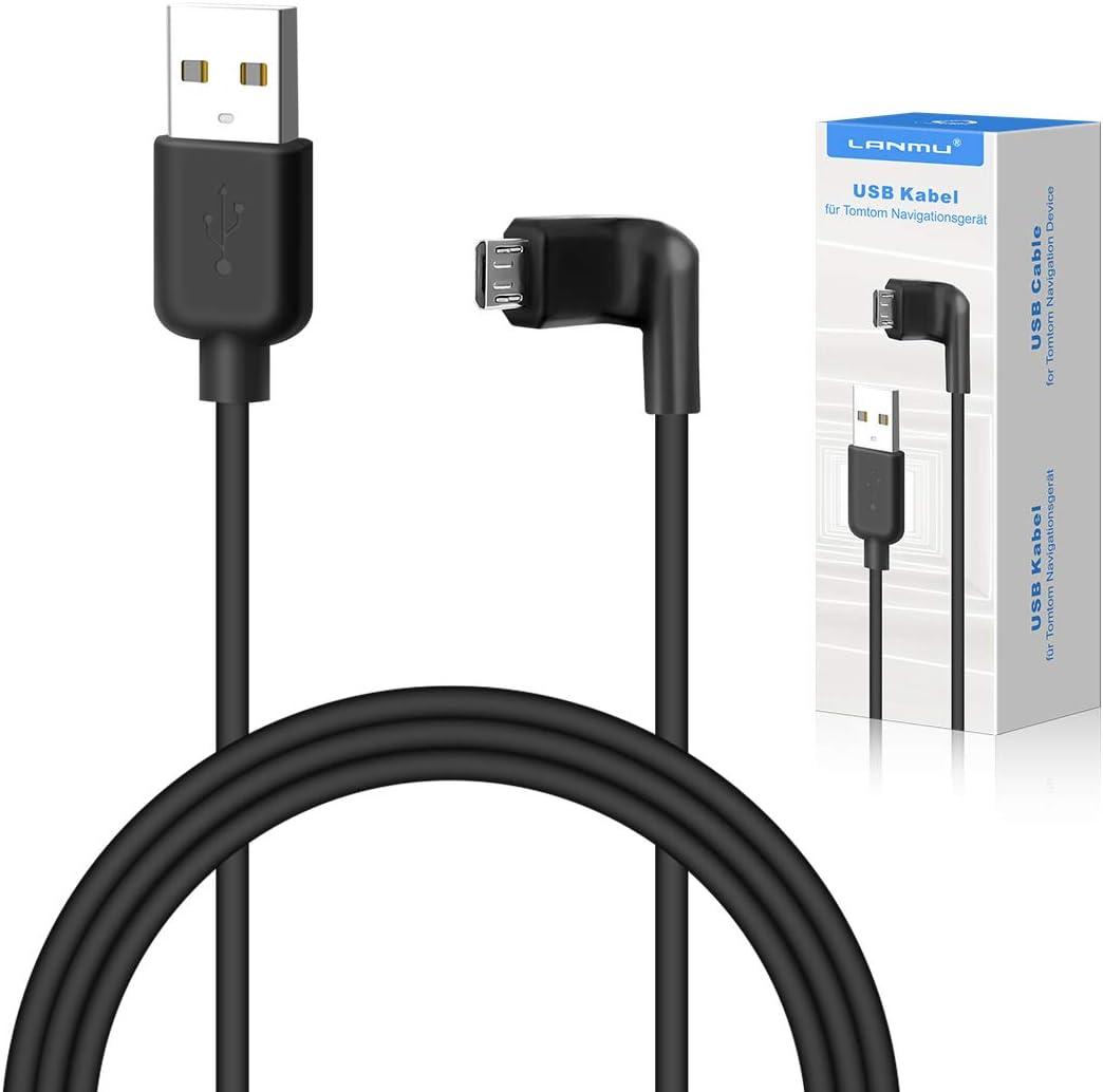 LANMU - Cable de Datos Micro USB para navegadores Tomtom Start 42/52/62, Tomtom GO 520/620 y Otros Dispositivos con Ranura Micro USB (1,5 m)