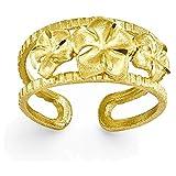 14k D/C Plumeria Toe Ring