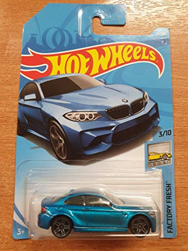 (Hot Wheels 2018 50th Anniversary Factory Fresh 2016 BMW M2 121/365 , Blue)