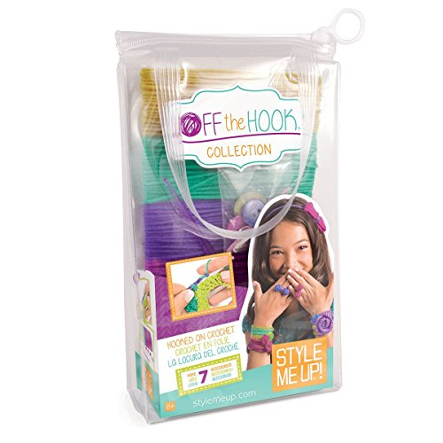 Style Me Up - Kids Knitting Set - Crochet Jewelry Kit for Girls - Craft Activity for Girls - Kids Make Your Own Kit - SMU-335