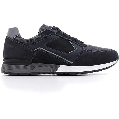 new product fc994 3203e Nero Giardini Uomo Sneaker A800560U Nero o Blu Scarpa in camoscio Autunno  Inverno 2019