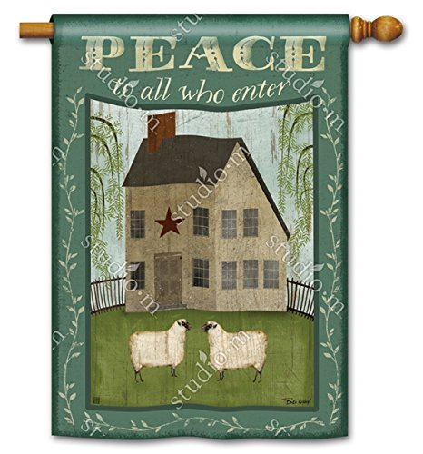 Peace Sheep - Peace to All Who Enter Country Farm House & Sheep 28