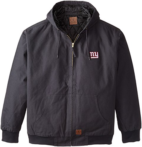 Dunbrooke Apparel Cumberland 8499-004-GIA Chaqueta de Lona con Capucha, Diseño de los New York Giants de la NFL, forro...