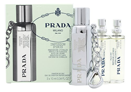 Prada Infusion DIris Eau De Parfum Purse Spray and Refills 3x10ml/0.34oz