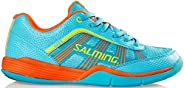 Salming Adder Juniors Indoor Court Shoe (Turquoise/Orange)