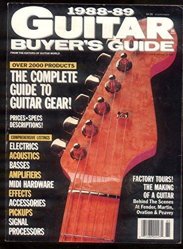 1988 Fender (Guitar Buyer's Guide 1988-89 Fender Martin Ovation Peavey Bass MBX49)