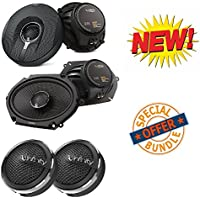 62.11I 450W Peak (150W RMS) 6.5 2-Way +693.11I 660W Peak (220W RMS) 6x9 3-Way Coaxial Speakers 3/4 Soft Dome Tweeters