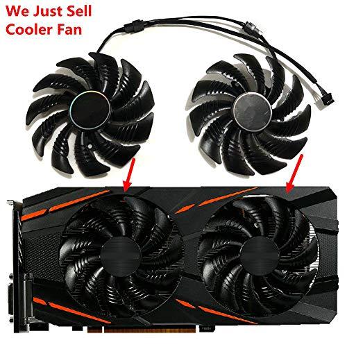 2pcs/Set 87MM PLD09210S12HH RX570 RX580 aorus GPU Cooler Cooling Fan for GIGABYTE RX 580/570 AORUS Grahics Card VGA Replacement (1 Pair PLD09210S12HH)