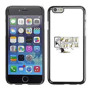 A-type Arte & diseño plástico duro Fundas Cover Cubre Hard Case Cover para iPhone 6 (Calvin Hobb)
