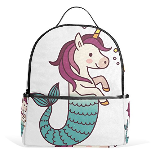 School Backpack for Girls Boys Unicorn Mermaid Bookbag for 2th 3th 4th  Grade Kids ef0271eb51