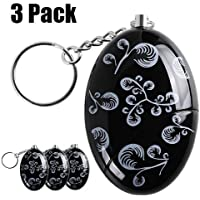 Personal Alarm,3 Pack 120 dB SOS Emergency Personal Alarm Keychain Self Defense for Elderly Kids Women Adventurer Night Workers Anti-theft Alarm Bag Decoration