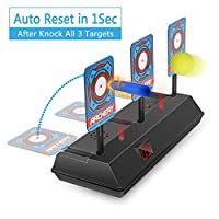 HAHAone Auto Reset Electric Shooting Target for Nerf Guns N-Strike Elite/Mega/Rival Series, Digital Targets with Light Sound Effect