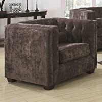 Coaster Home Furnishings Transitional Chair, Charcoal