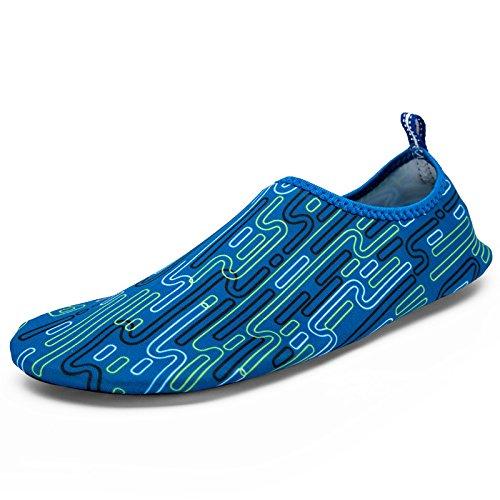 la de DFS natación cósmico playa light zapatos calzado Anti cuidado 1 esquí Skid Ultra Lucdespo de acuático azul piel zapatos transpirables qn1xtRPZT
