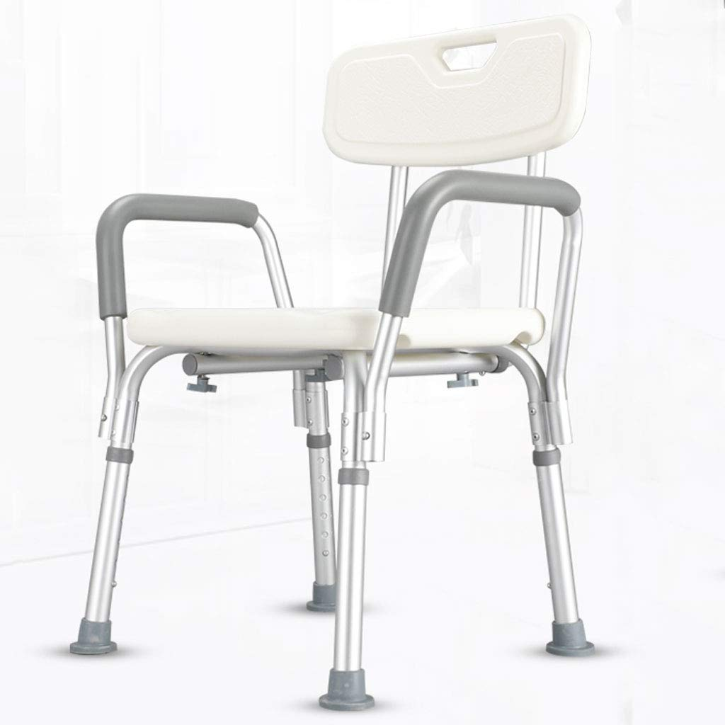 WXL Taburete de baño para Ancianos, Silla de baño, Antideslizante, aleación de Aluminio, para discapacitados, Silla de baño V (Tamaño : L54CMXW44CMXH85CM)
