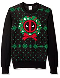 Marvel mens Deadpool Night Black Ugly Christmas Sweater