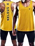 Neleus Men's 3 Pack Dry Fit Athletic Muscle